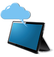 Tablet cloud computing vector image