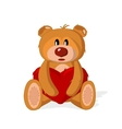 Bear toy with heart on a white background vector image
