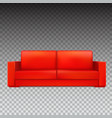 red modern luxury sofa for living room reception