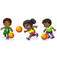 Kids playing basketball vector image