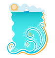 sea with waves vector image vector image