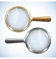 Pair of magnifying glasses isolated on white vector image