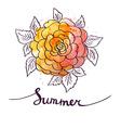 Abstract watercolor splash Watercolor drop Floral vector image