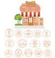 Bakery shop building facade with signboard vector image