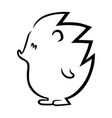 cute hedgehog outline on white vector image