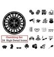 icon set Gambling vector image