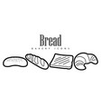 set of bakery products vector image