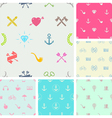 Set of hipster style seamless background vector image