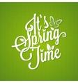 spring vintage lettering background vector image