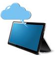 Tablet cloud computing vector image