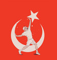 turkish young man conceptual vector image