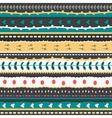 Whimsical embroidery stripes and stitches hand vector image