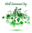 world environment day abstract background vector image
