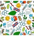 Nature ecosystem symbols seamless background vector image