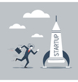 Space ship business idea for start up vector image