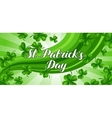 Saint Patricks Day banner Green clover shamrock vector image