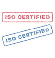 iso certified textile stamps vector image