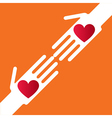 Helping hand vector image vector image