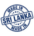 made in sri lanka blue grunge round stamp vector image