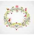 Vintage Christmas elements mistletoe design EPS10 vector image vector image