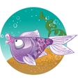 Light violet Fish on the bacground vector image