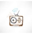 radio grunge icon vector image vector image