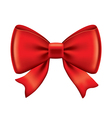 object red bow vector image