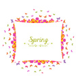 spring with flower and butterfly colorful banner vector image