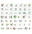 Large corporate company logo collection Universal vector image vector image