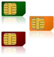 sim cards vector image