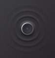 Audio speaker with sound waves eps 10 vector image vector image