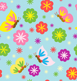 Spring Blooming Pattern vector image vector image