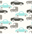 Car cute baby seamless pattern vector image