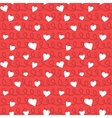 Abstract Hearts and Ropes Seamless Pattern Doodle vector image