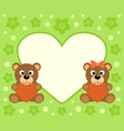 background with funny bears cartoon vector image