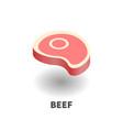 beef icon symbol vector image