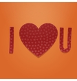 I love You Realistic Valentines textile Symbols vector image