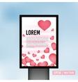 Love heart valentine vertical light vector image