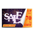 Sale coupon background vector image