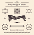 Set of fancy icons frames borders divider lines vector image