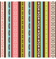 color pattern with ornaments vector image