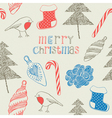 Vintage Christmas hand drawn backgrounds vector image