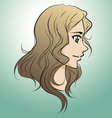 Drawing of beautiful girl face vector image