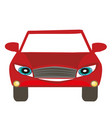 car cartoon character vector image