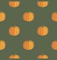 Pumpkin seamless pattern thanksgiving background vector image