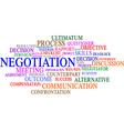Negotiation word cloud vector image