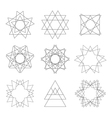 Set of design elements Abstract decorative vector image