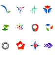 12 colorful symbols set 11 vector image vector image