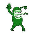 comic cartoon crazy frog vector image