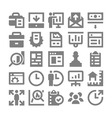 Project Management Icons 1 vector image